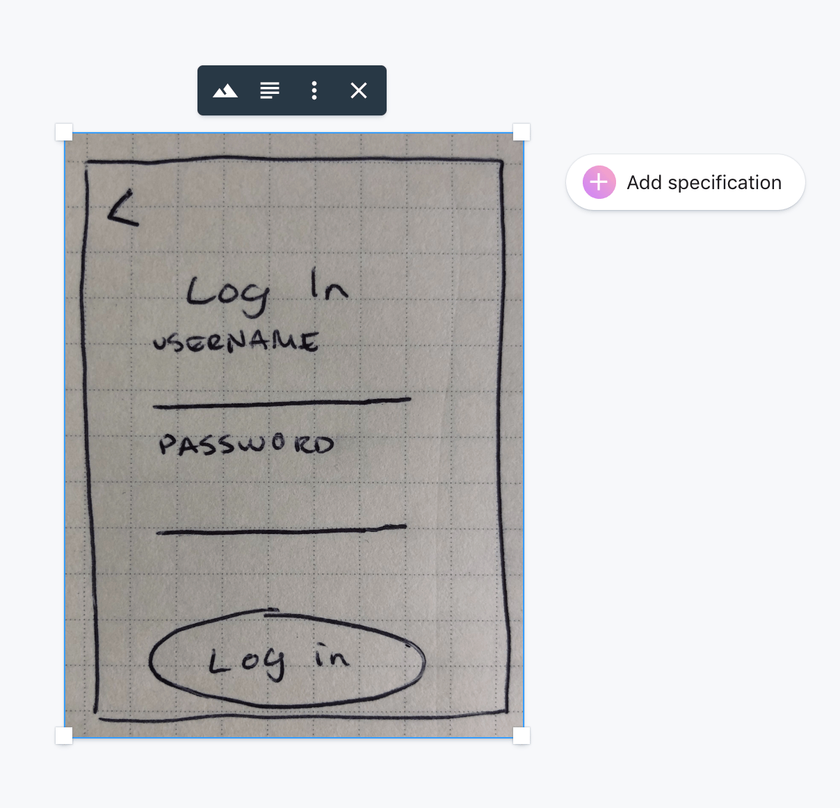 Product requirements document sketch lo-fi example